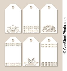 Set stencil labels with carved pattern - Set stencil labels...