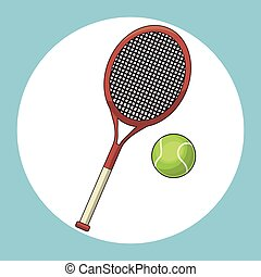 ball and racket tennis vector illustration eps 10