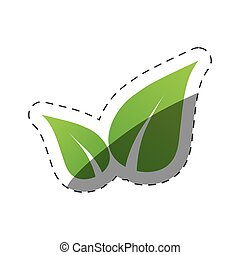 environment leaves nature symbol vector illustration eps 10