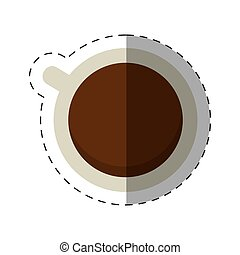 coffee cup beverage cut line vector illustration eps 10