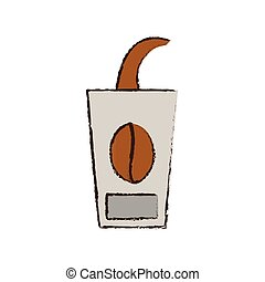 skecth cup coffee to go vector illustration eps 10