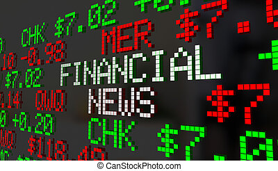 Financial News Stock Market Report Ticker Update 3d...