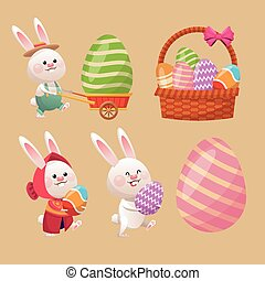 collection easter season decoration vector illustration eps...