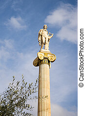 Academia, grecia, apolo, atenas, estatua
