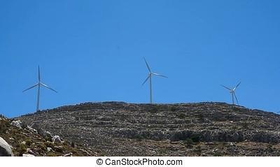 windmill on top of the mountain Ataviros - windmill...