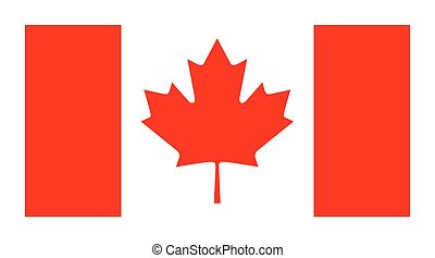 Vector official flag of Canada