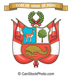 Vector illustration on theme Peruvian Coat of Arms