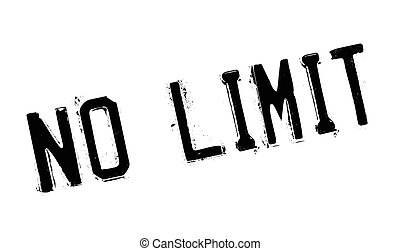 No Limit rubber stamp. Grunge design with dust scratches....