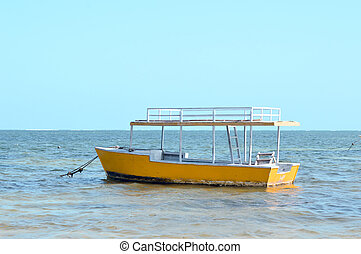 Small boat on the Indian Ocean