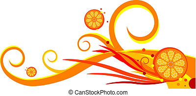 background with oranges