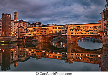 Ponte Vecchio in Florence, Tuscany, Italy - Florence,...