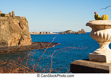 The norman castle of Acicastello - View of the norman castle...