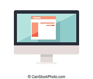 Web Design of Site on the Monitor Display Isolated