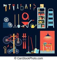 Garage Workshop Interior Elements