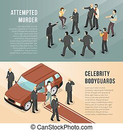 Celebrity Bodyguards 2 Isometric Banners