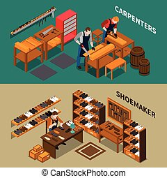 Craftsman Isometric Banners