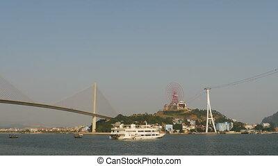 Panorama of Ha Long City. Vietnam. (Shot in Full HD -...