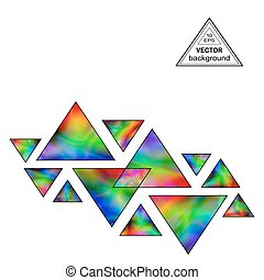 Iridescent Triangles Design Element for the White...