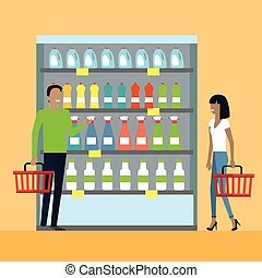 Consumers Choice Concept Vector in Flat Design. - Consumers...