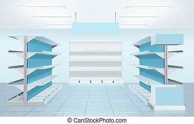 Empty Supermarket Shelves Design - Supermarket design...
