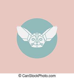 Fenek (Fox) 01-2.eps - Portrait of a fenech. Eared fox....
