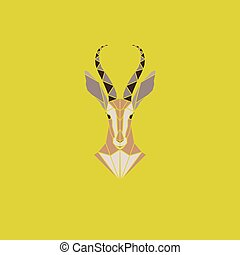 Antelope - Vector sign abstract head of African Antelope....