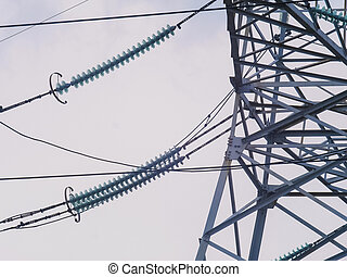 High-voltage support and the electrical wires