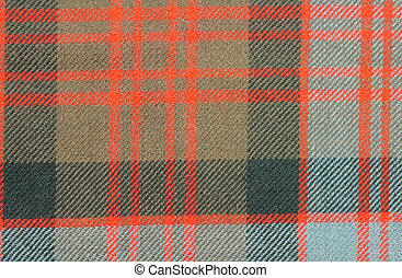 Traditional Scottish Donald Clan Tartan Wool Fabric -...