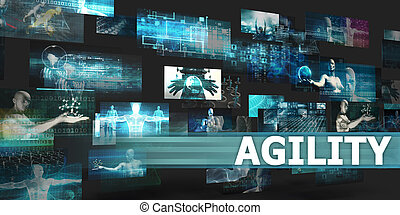 Agility Presentation Background with Technology Abstract Art