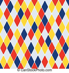 Harlequin parti-coloured seamless pattern 31 Color bright...