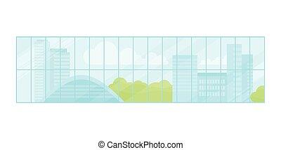 Window Urban Landscape