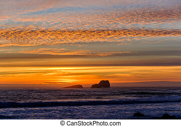 Pacific coast sunset, Big Sur, California, USA.