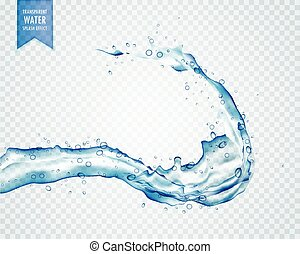 blue water liquid splash on transparent background