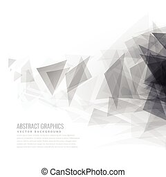 abstract gray triangle shapes burst
