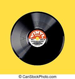 Vinyl record vector illustration.