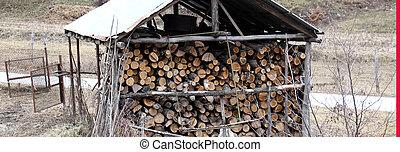 fire wood, log, billet - image of a fire wood, log, billet