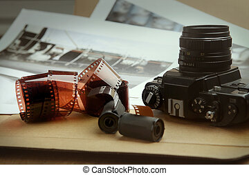 Photographic film rolls, cassettes and camera.