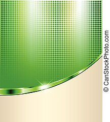 Abstract green background with dotted pattern, vector...