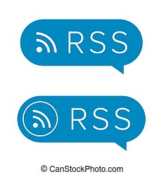 RSS feed icon sign vector