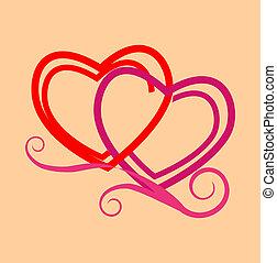 stylisé, cœurs