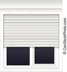 Fenster schließen clipart  EPS Vektor von rollen, fenster, vektor, fensterläden - Vector ...