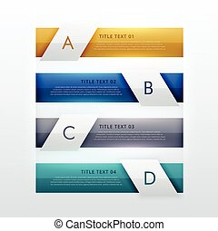 modern four steps infographic template design for business...