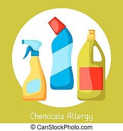 Chemicals allergy. Vector illustration for medical websites...