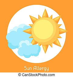 Sun allergy. Vector illustration for medical websites...