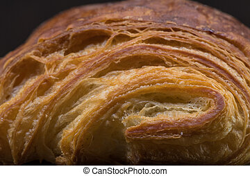 Brightly Lit Layers of Croissant Pastry texture