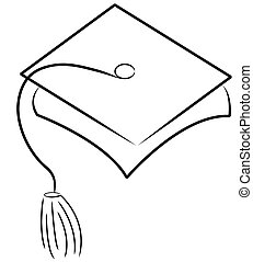 graduation hat or cap