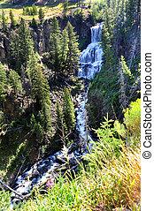 Waterfall near Southern Entrance - Undine Falls, in...