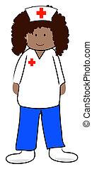 female health care professional or nurse