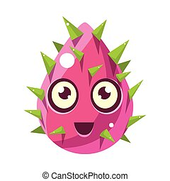 Pink Plant Bud With Spikes, Egg-Shaped Cute Fantastic...