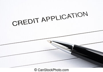 Blank credit application form